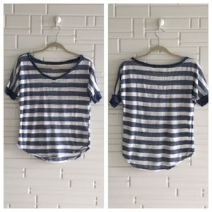 Abercrombie & Fitch Blue Striped Tee